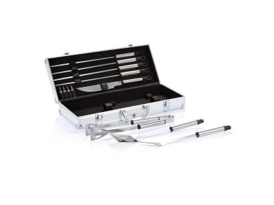 12-delige barbecue set in aluminium koffer