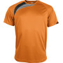 Kindersportshirt orange / black / storm grey 12/14
