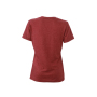 Ladies' Heather T-Shirt wijnrood-melange