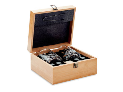 INVERNESS - Luxe whiskey set in bamboe box