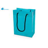 Grote PP tas transparant turquoise Transparant Turquoise 380