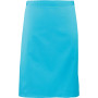 'colours' mid length apron turquoise one size