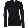 Softstyle® fitted ladies' long sleeve t-shirt black l