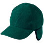 6 Panel Fleece Cap with Earflaps donkergroen