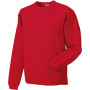 Heavy duty crew neck sweatshirt classic red l