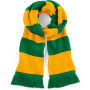 Gestreepte sjaal varsity kelly green / gold one size