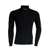 Paco - men's zip neck jumper