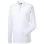 Long sleeve classic cotton polo white s