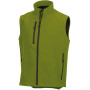 Men's softshell gilet cactus green m