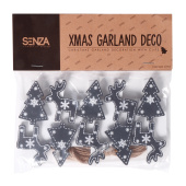 SENZA Garland with photo clips Black
