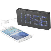 Powerbank met LED display en klok 8000 mAh
