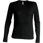 Ladies' long sleeve v-neck t-shirt