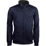 Jas met fleecevoering navy / light grey l