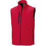 Men's softshell gilet classic red xl