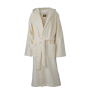 Functional Bath Robe Hooded Crème