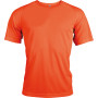Functioneel sportshirt fluorescent orange s