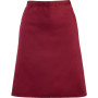 'colours' mid length apron burgundy one size