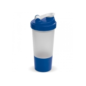Shaker compartiment 500ml transparant blauw