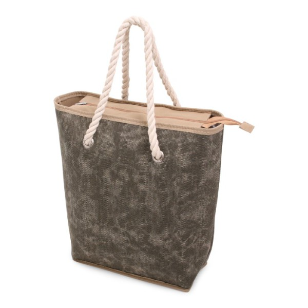 Canvas Shopper Green