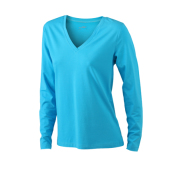 Ladies' Stretch V-Shirt Long-Sleeved