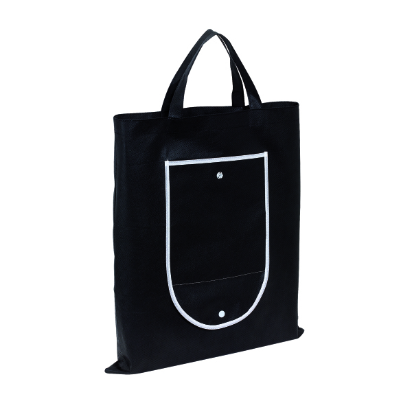 "Shopper ""Porto"",non-woven,foldable,black"