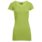 Dames Slim Fit V-Hals-T Lang