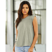 Women's Flowy Muscle Tee Rolled Cuff