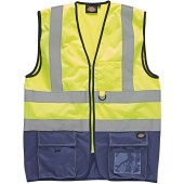 High visibility two tone waistcoat