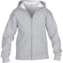 Heavy blend™classic fit youth full zip hooded sweatshirt sport grey 7/8 (m)