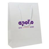 Paper bag gloss white, Apollo