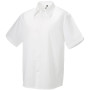 Men's short sleeve tencel® fitted shirt white s