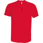 Heren sportshirt met ritskraag red 3xl