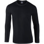 Softstyle® euro fit adult long sleeve t-shirt black xl