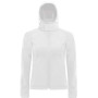Hooded softshell women white s