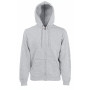 Classic hooded sweat jacket (62-062-0) heather grey m