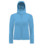 Hooded softshell women azur blue xl
