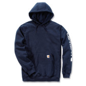 Midweight signature sleeve logo hooded sweatshirt