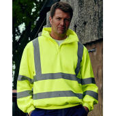 Hi Vis 1/4 Zip Sweat Shirt