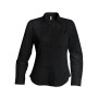 Dames stretch blouse lange mouwen black xxl