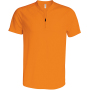 Heren sportshirt met ritskraag orange s