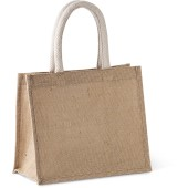 Jute canvas tote - medium
