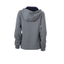 Ladies' Lifestyle Zip-Hoody grijs-melange/navy