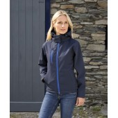 Hooded ladies' softshell jacket