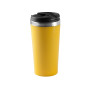 Beker roestvrij staal yellow one size