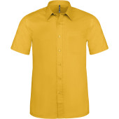 Ace - heren overhemd korte mouwen yellow s