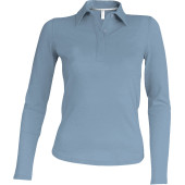 Ladies' long sleeve pique polo shirt