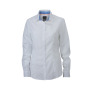 Ladies' Plain Shirt wit/royal-wit