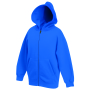 Kids Classic Hooded Sweat Jacket Royal Blue 5-6jr