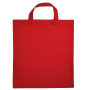 Cotton Bag Kort Hengsel Rood acc. Rood