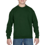 Gildan Sweater Crewneck HeavyBlend for kids forest green L